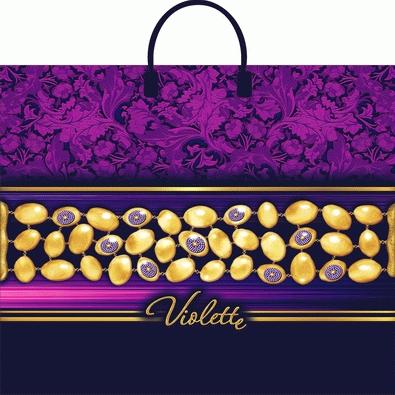 Пакет с пластиковой петлевой ручкой «Виолет» 38*35см 10/100