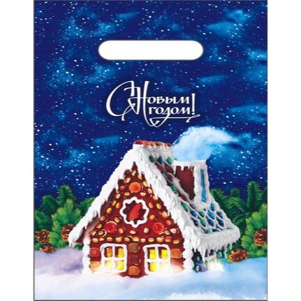 Пакет подарочный «Пряничный домик» (20*30см) 100/2000