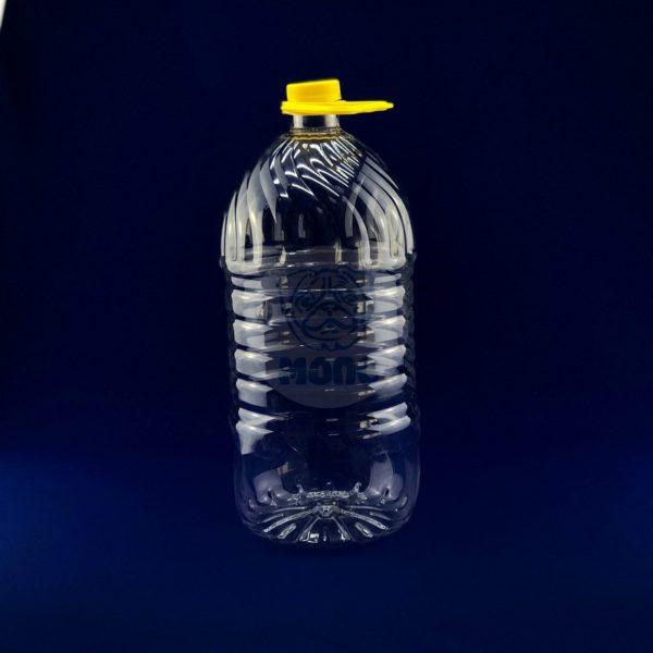 Бутылка пластиковая ПЭТ 5,0л прозрачная с крышкой и ручкой 1/20