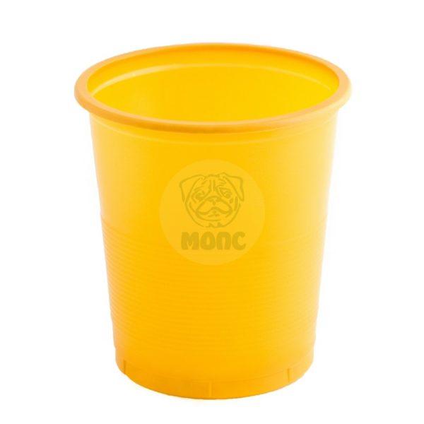 Стакан одноразовый 500мл пластиковый Бочонок желтый Супер Эконом 85/20/1700
