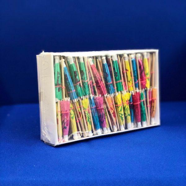 Палочки пика для канапе деревянная «Зонтик» длина 9см  (144 шт) 1/100