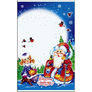 Пакет подарочный «Зимняя опушка» 25*40см 100шт 100/2000