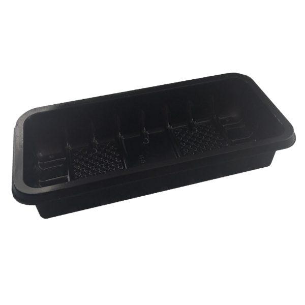 Лоток пластиковый одноразовый черный 0,25кг для фасовки и заморозки 100/42/4200