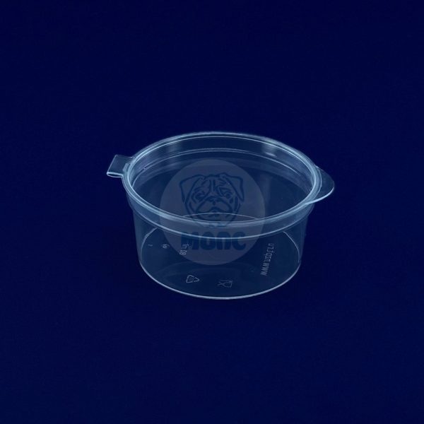 Соусник пластиковый с крышкой 80 мл одноразовый 50/1000