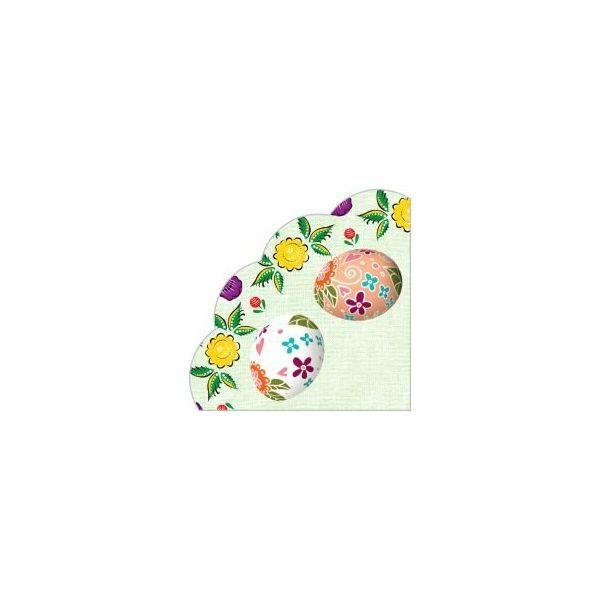 Салфетки бумажные трехслойные «Декоративные яйца» 12 л 1/15