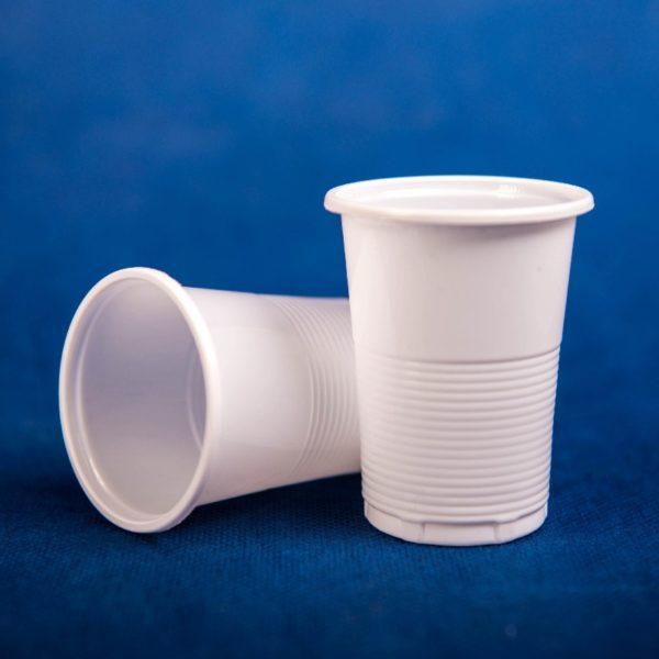Стопка одноразовая пластиковая 100мл белая 100/70/7000