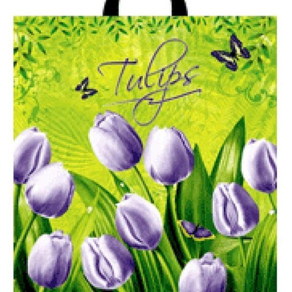 Пакет с петлевой ручкой «Тюльпаны» 30*34см 50/700