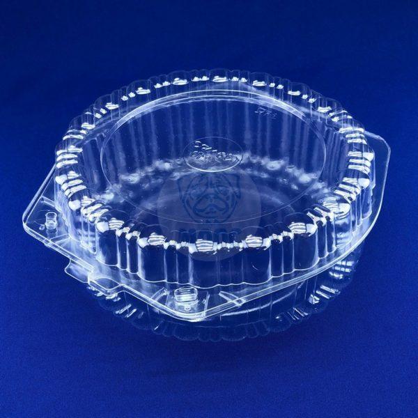 Контейнер для торта одноразовый пластиковый круглый с крышкой Т-210 1/200