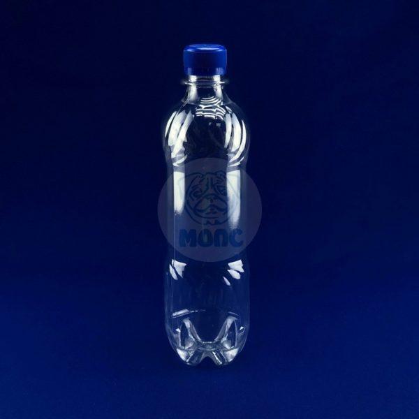 Бутылка пластиковая ПЭТ 0,5л прозрачная 1/50