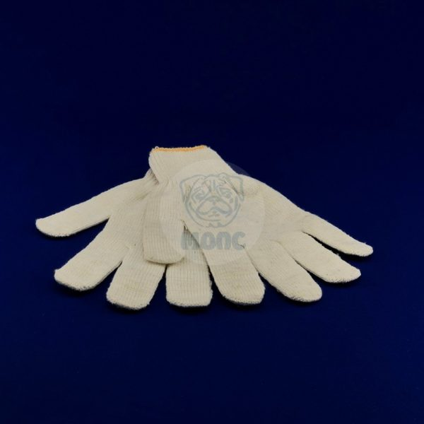 Перчатки рабочие хлопчатобумажные 10 класс вязки без пвх белые 10/300