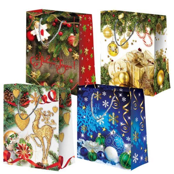 Пакет бумажный подарочный ламинированный «Микс» №2 180*100*227мм