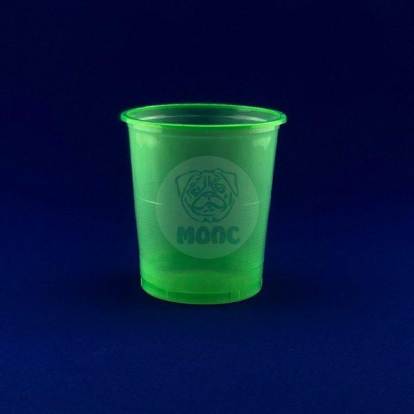 Стакан одноразовый 500мл пластиковый Бочонок зеленый Супер Эконом 85/20/1700