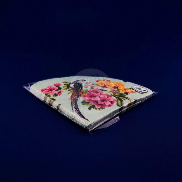 Салфетки бумажные трехслойные «Райский сад» 12 л d32 Rondo 1/15