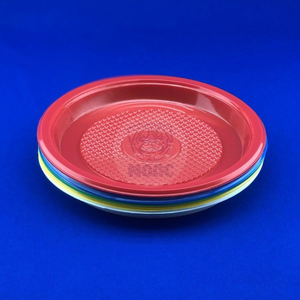 Набор тарелок десертных одноразовых цветных Микс d 165 (10шт) 1/240