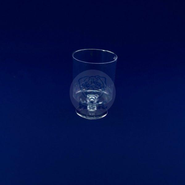 Бокал пластиковый для вина прозрачный Кристалл 200мл (10шт) 1/54