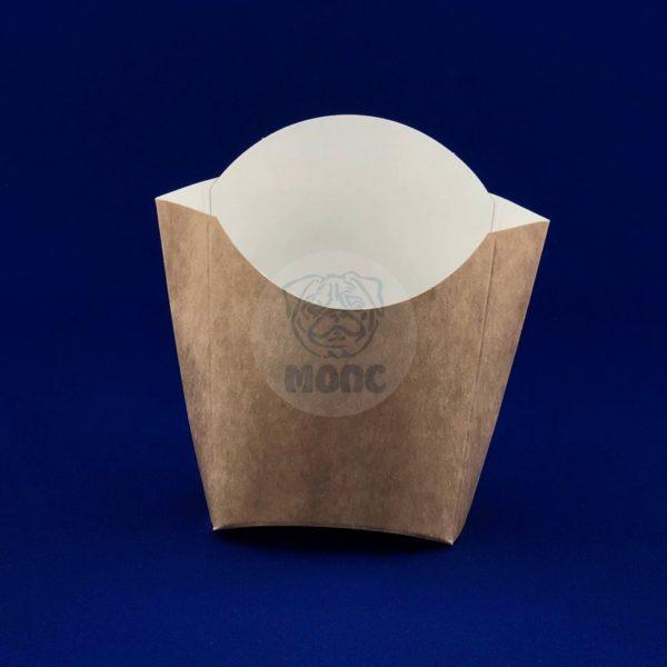 Коробка для картофеля фри 100гр крафт 50/500