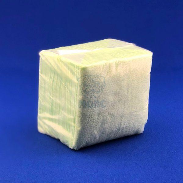 Салфетки бумажные однослойные зеленые пастель 24*24см 100л 1/48