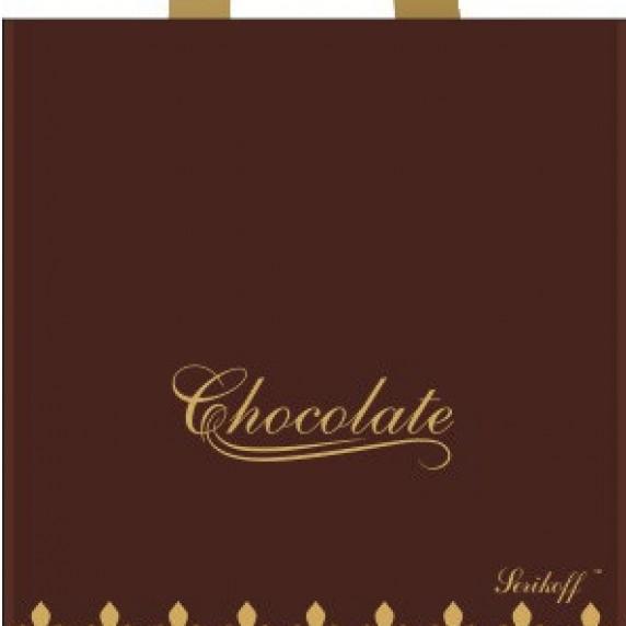 Пакет с петлевой ручкой «Шоколад» кричневый 30*34см 50/700