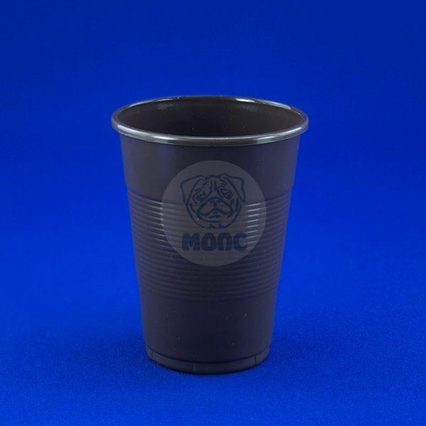 Стаканчик одноразовый 200мл пластиковый коричневый Экстра 80/30/2400