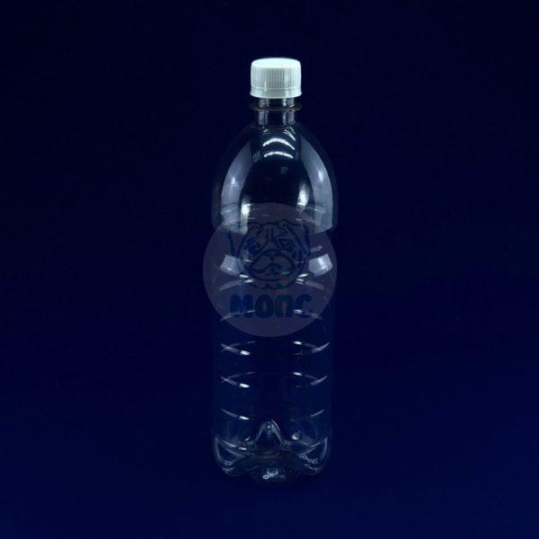Бутылка пластиковая ПЭТ 1,0л прозрачная 1/128