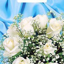 Пакет с вырубной ручкой «Букет белых роз» 20*30см 100/3000