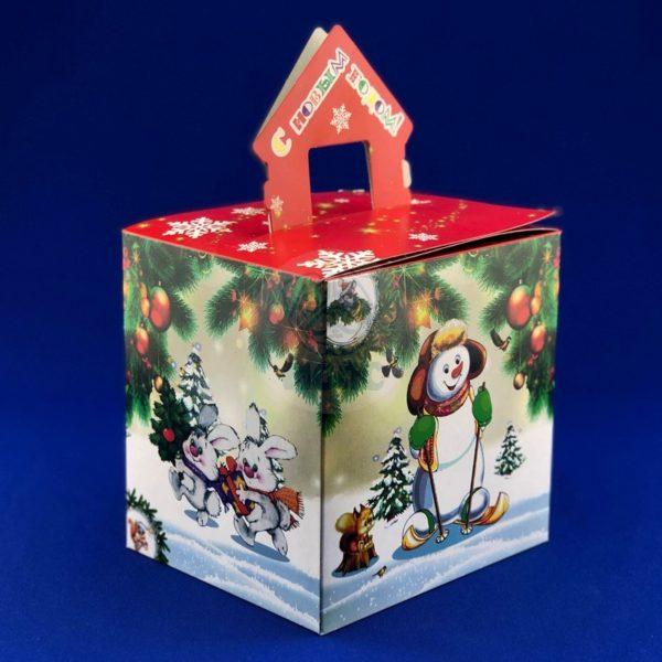 Картонная упаковка для новогодних подарков «Ежики» 1,5 кг