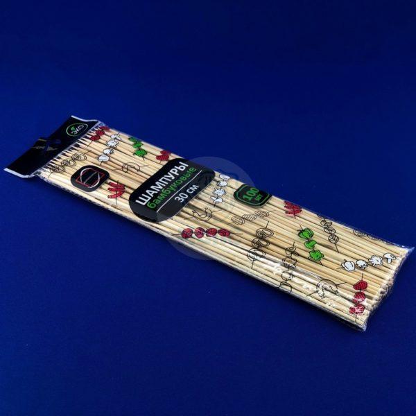 Шампур деревянный бамбуковый 30см (100шт) 1/100