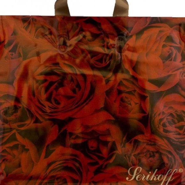 Пакет с петлевой ручкой «Розы» 34*37см 25/400