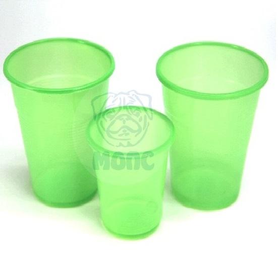 Стопка одноразовая пластиковая 100мл зеленая 50/140/7000