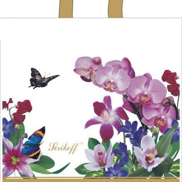 Пакет с петлевой ручкой «Букет белых орхидей» 39*40см 25/500