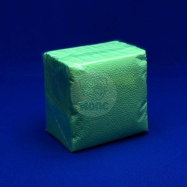 Салфетки бумажные однослойные салатовые 24*24см 100л 1/40