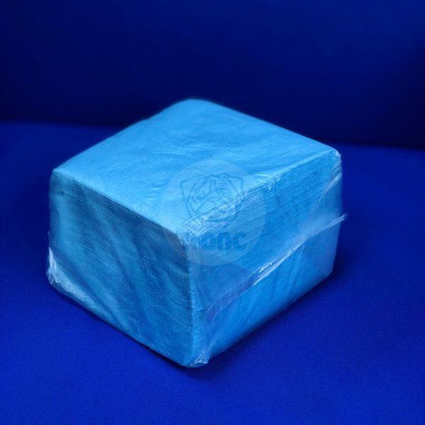 Салфетки бумажные однослойные синие пастель 24*24см 100л 1/48