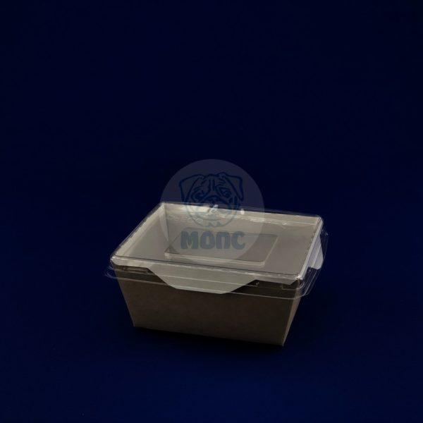 Упаковка для готовых блюд ECO OpSalad 350мл (120*100*55 мм) с прозрачной крышкой 50/350