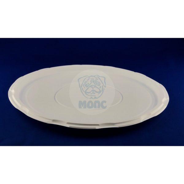 Тарелка пластиковая одноразовая диаметр 318мм под пиццу белая 50/400