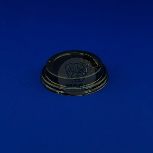 Крышка для бумажного стакана KF 200 черная носик 100/1000
