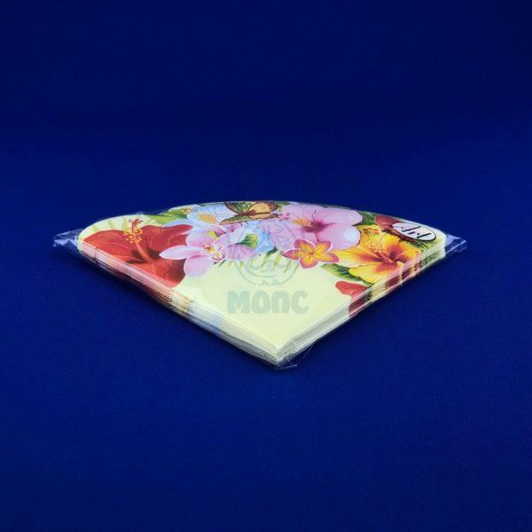 Салфетки бумажные трехслойные «Тропические цветы» 12 л d32 Rondo 1/15