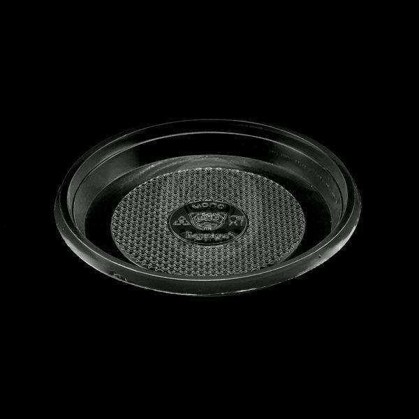 Тарелка десертная одноразовая пластиковая диаметр 165мм черная 100/2400