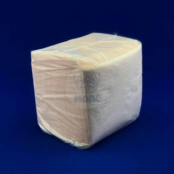 Салфетки бумажные однослойные оранжевые пастель 24*24см 100л 1/48