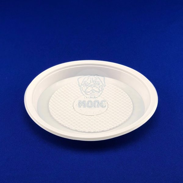 Тарелка десертная одноразовая пластиковая диаметр 165мм белая 100/2400