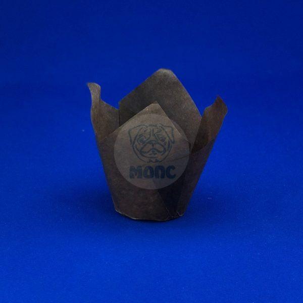 Форма бумажная для маффинов и капкейков «Тюльпан» D50мм h80мм 180/1800