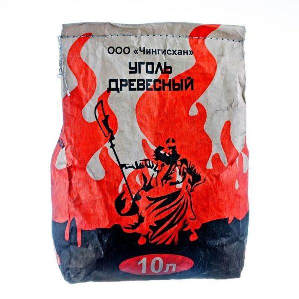 Уголь древесный 10л