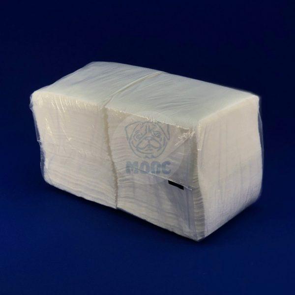 Салфетки бумажные однослойные белые 300л 24х24 см 1/20