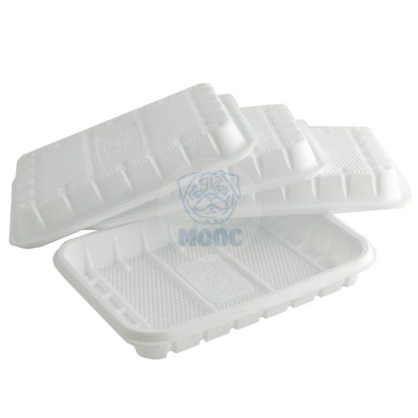 Лоток одноразовый белый 0,5кг для фасовки и заморозки 50/44/2200