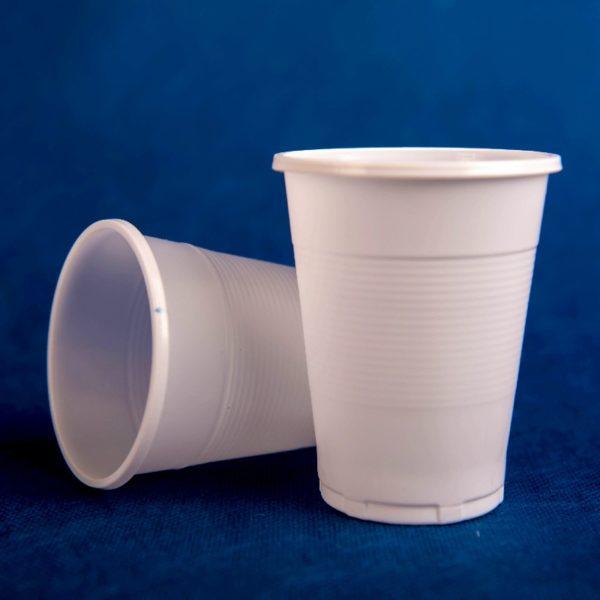 Стаканчик одноразовый 200мл пластиковый белый Эконом 100/42/4200