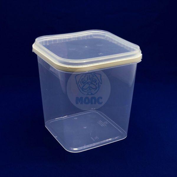 Контейнер многоразовый пластиковый с крышкой с ручкой 5,7л прозрачный 1/40