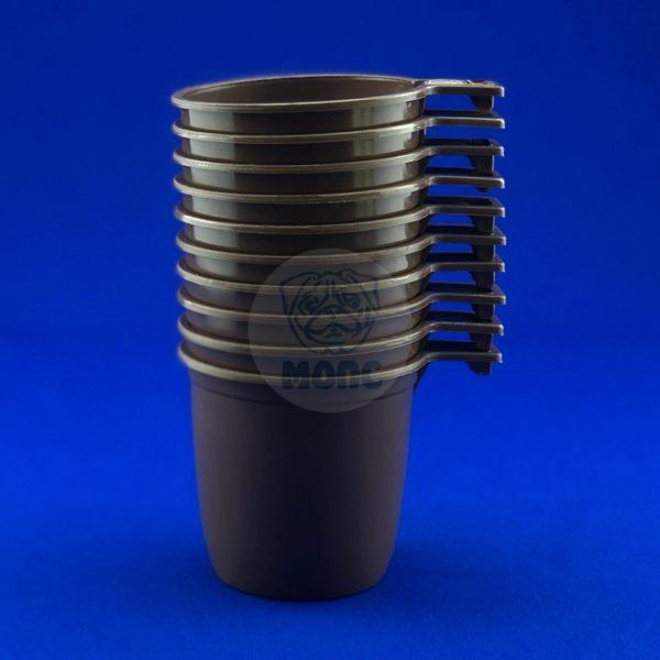 Набор чашек кофейных одноразовых коричневых 0,2 л (10шт) 1/150