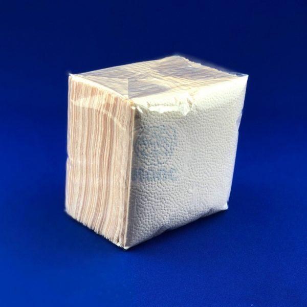 Салфетка бумажные однослойные «Абрикос» 100 л 24х24 см Комфорт 1/40