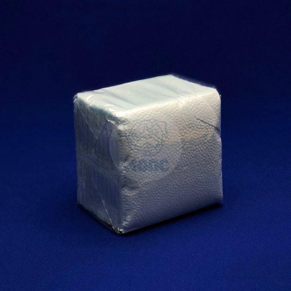 Салфетки бумажные однослойные голубые 24*24см 100л 1/40