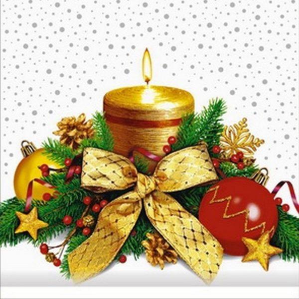 Пакет подарочный «Тепло свечи» 25*40см 100шт 100/2000