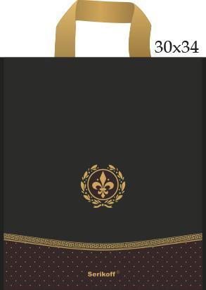 Пакет с петлевой ручкой «Лилия черная» 30*34см 50/400